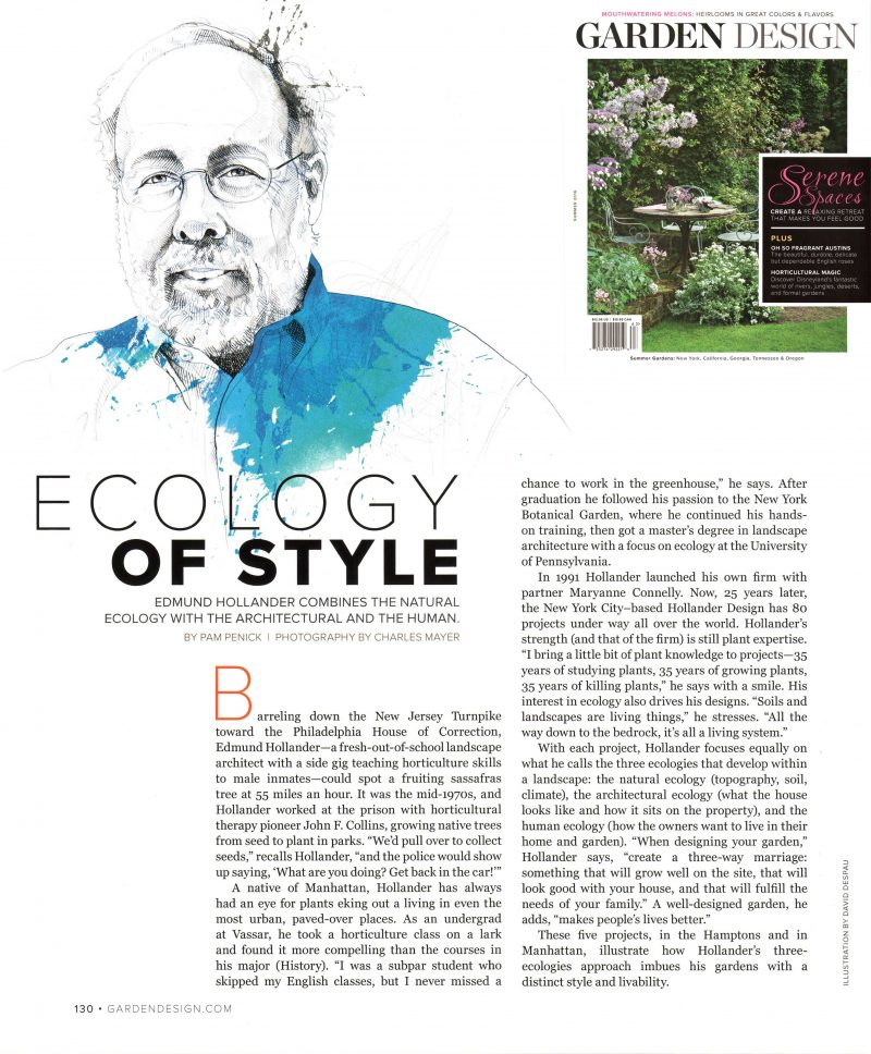 Garden Design Interviews Ed Hollander