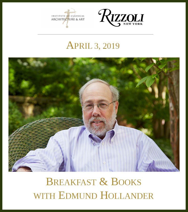 Ed Hollander to Speak on April 3 at Breakfast & Books