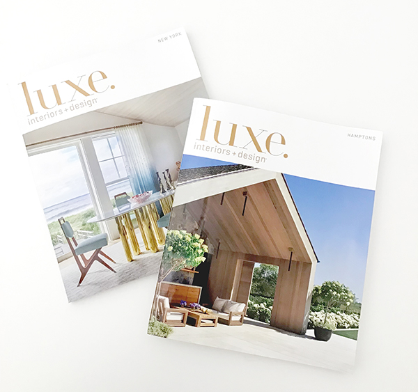 LUXE Magazine Features Two Hollander Projects