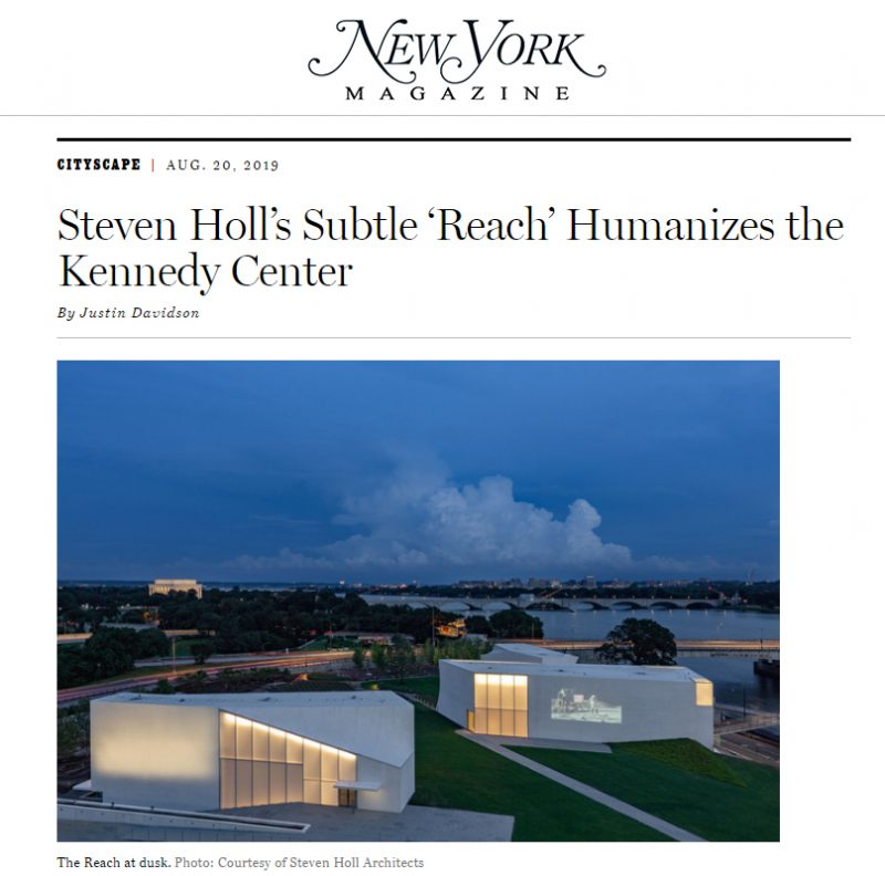 New York Magazine Profiles Kennedy Center REACH
