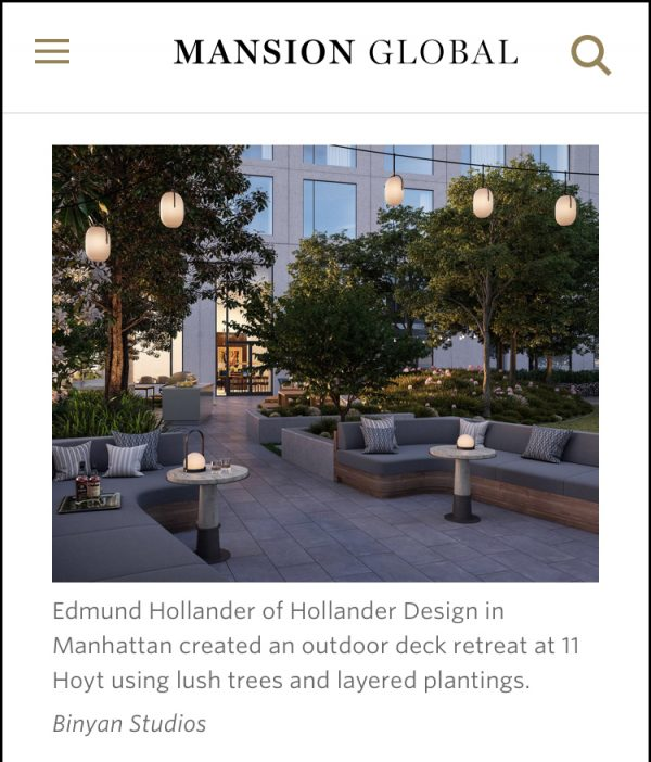 Mansion Global – Creating Outdoor Zen Space