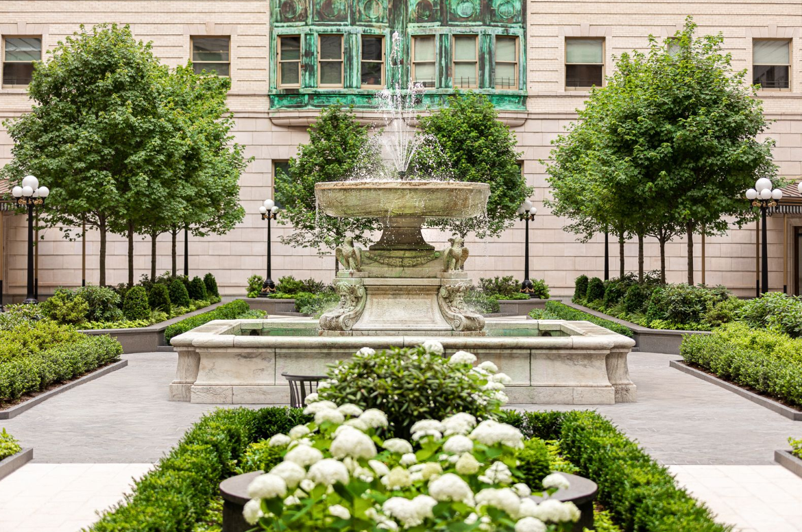 Architectural Digest Features The Belnord Courtyard