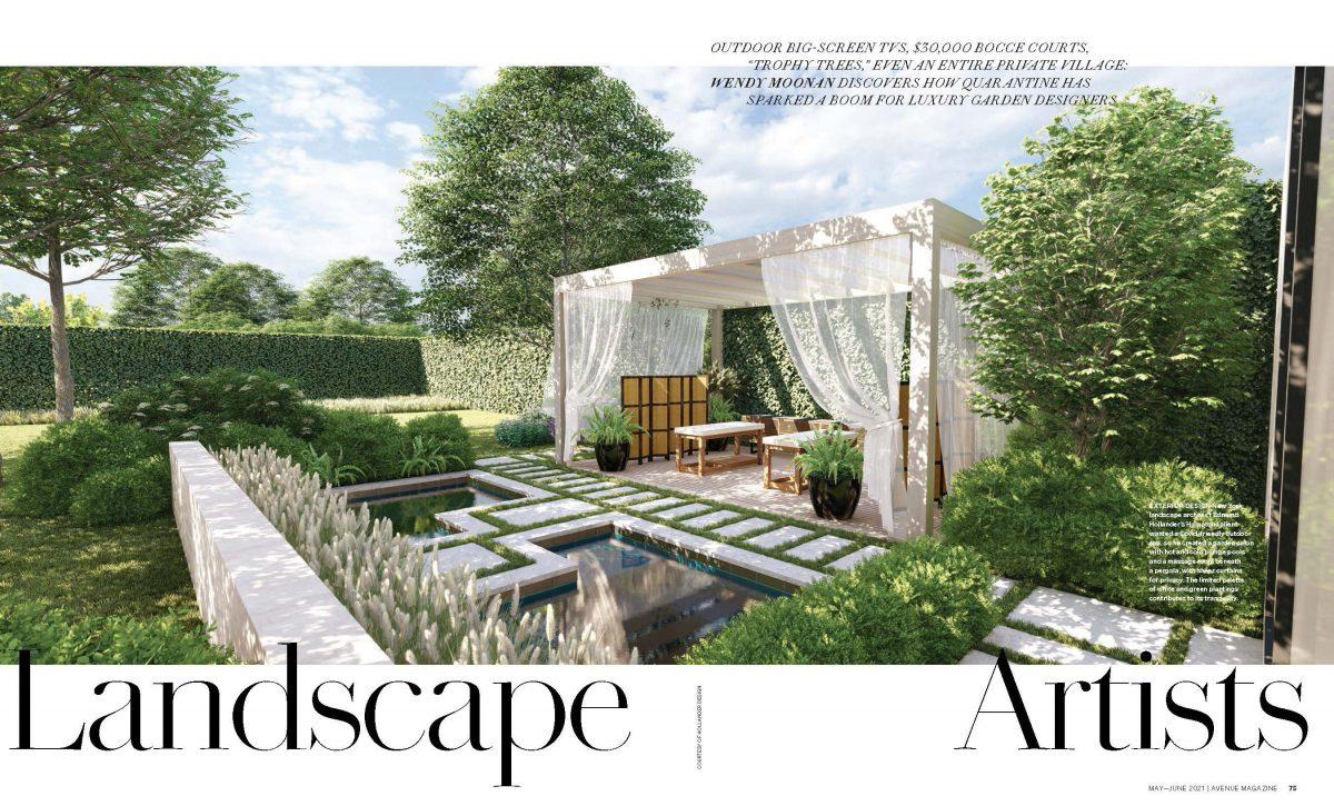 Avenue Magazine Highlights Hollander Design